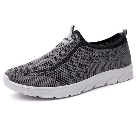 Men Breathable Knitted Fabric Slip Resistant Casual Shoes