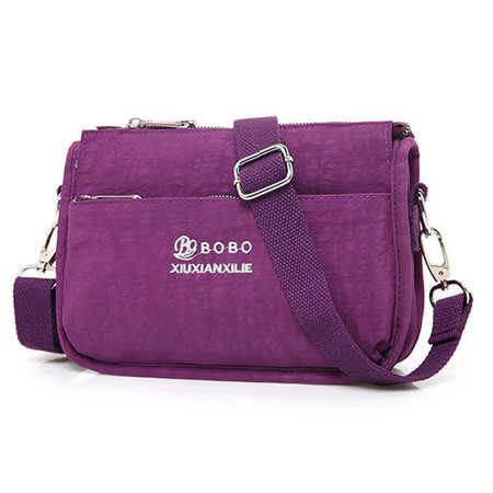 Women Waterproof Nylon Light Casual Shoulder Bag Crossbody Bag