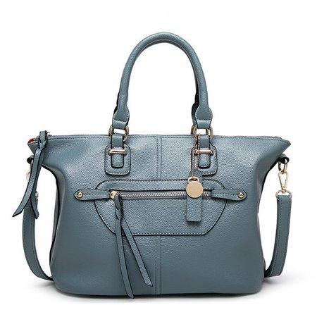 Genuine Leather Stylish Zipper Handbag Crossbody Bags