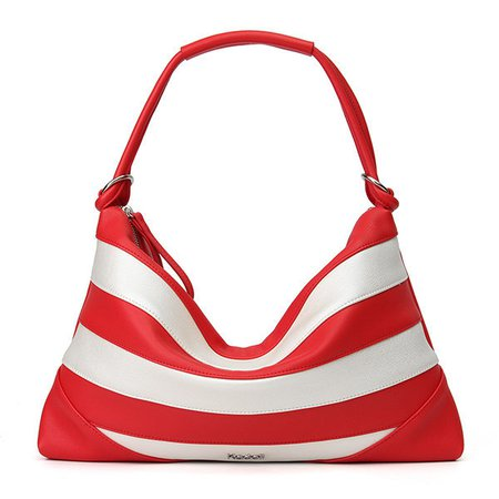 Chic Stripe Single Personality Aglet Beach Relaxation Shoulder Bag