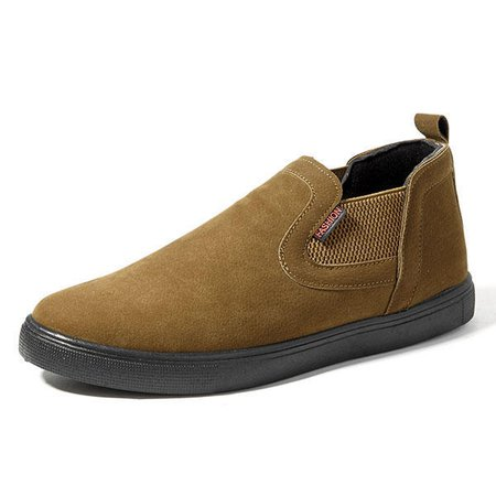 Men Low Top Soft Sole Elastic Band Slip On Shoes
