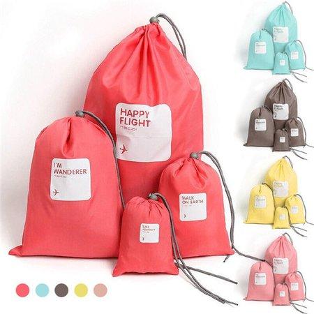 Casual 4 PCS Waterproof Beam Port Storage Bag Clothes Shoes Cosmetic Bag Travel Bag