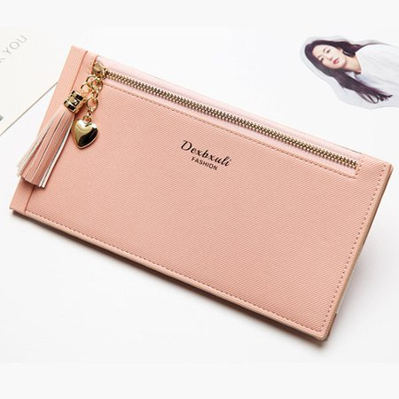 Women Chic Ultra-Thin Wallet 16 Card Slot Card Holder Multifunction Phone Purse