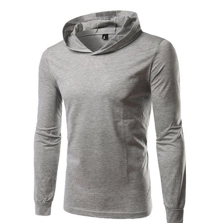 Brief Style Solid Hoodie Long Sleeve Casual T-shirt