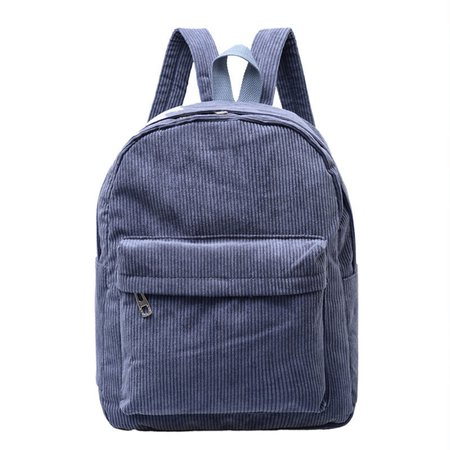 Corduroy Backpack Casual Shoulder Bag High Capacity Outdoor Rucksack