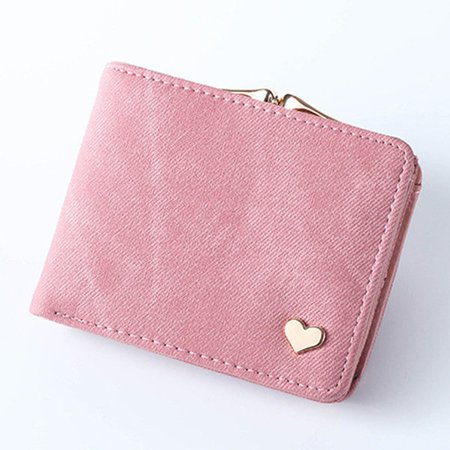 Women Short Candy Color Multifunctional Wallet Card Holder Purse
