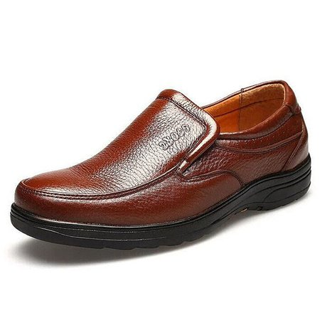 Men Faux Leather Slip On Wear-resistant Casual Shoes