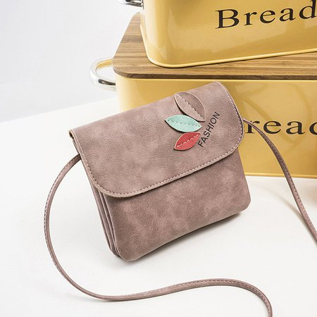 Women Retro Three Leaves Cute Crossbody Bag