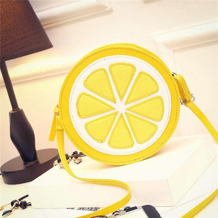Women Cute Lemon Pattern Lovely Shoulder Crossbody Bags