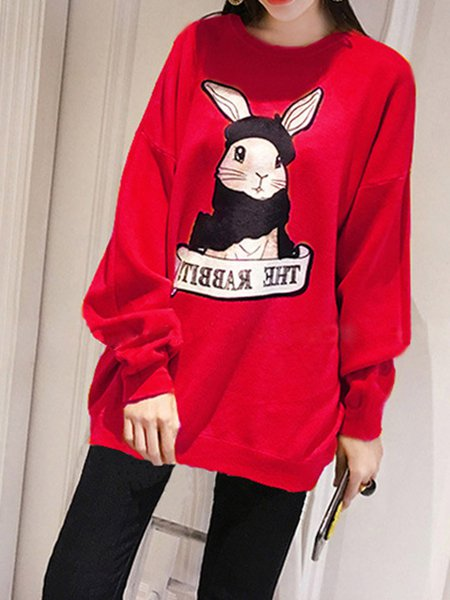 H-line Cute Long Sleeve Sweatshirt