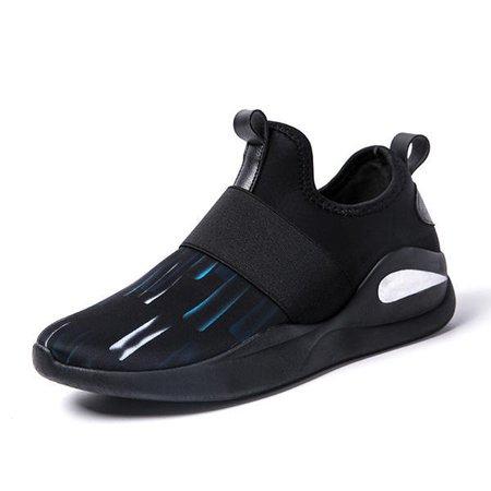 Men Comfortable Elastic Band Casual Slip On Sneakers