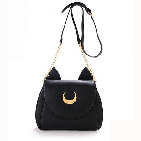 Women Cute Moon Pattern Design Crossbody Bag