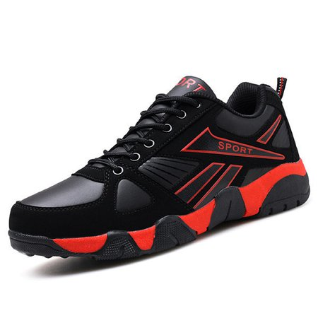 Men Soft Breathable Running Shoes Light Lace Up Sneakers