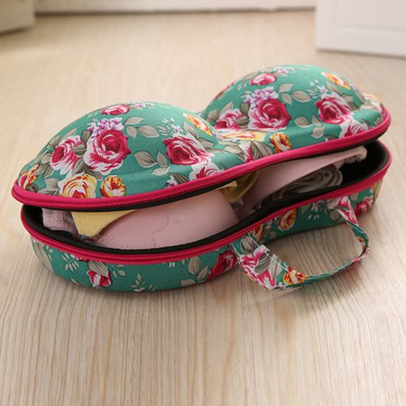 Portable Travel Underwear Bra Storage Bag Printed Storage Box For Women