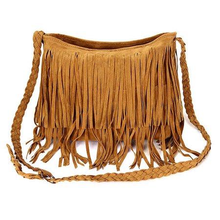 Ladies Fashion Tassel Weave Casual Crossbody Shopping Bag
