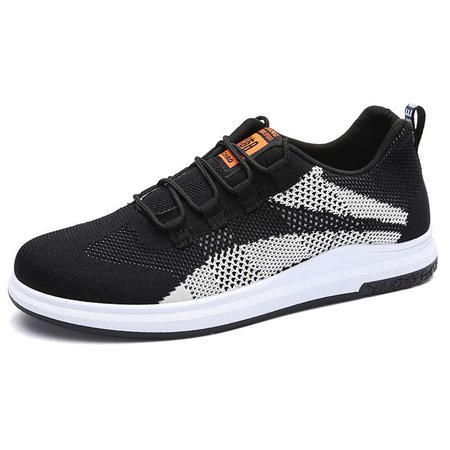 Men Breathable Knitted Fabric Anti-collision Casual Sneakers