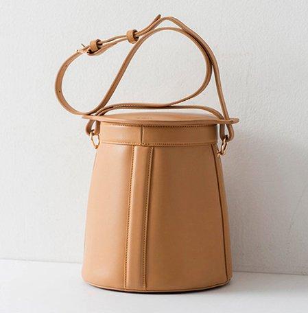 Female Retro PU Leather Crossbody Cute Cover Bucket Crossbody Bag
