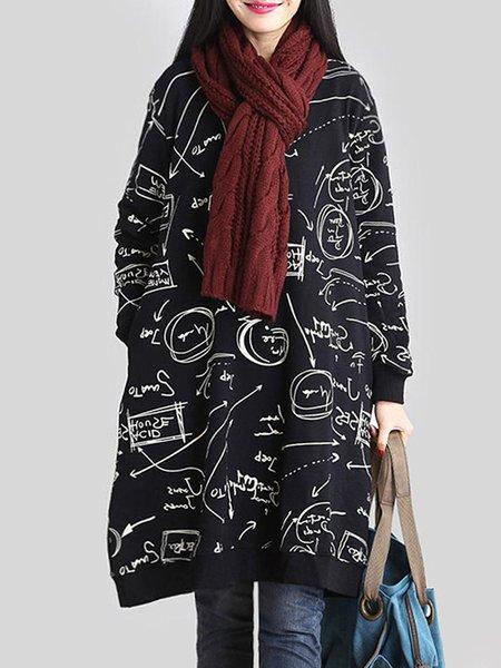 Long Sleeve Polyester Statement Hoodies & Sweatshirt
