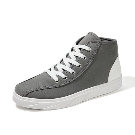 Men Classic Canvas Splicing Trainers Lace Up Casual Skateboarding Shoes