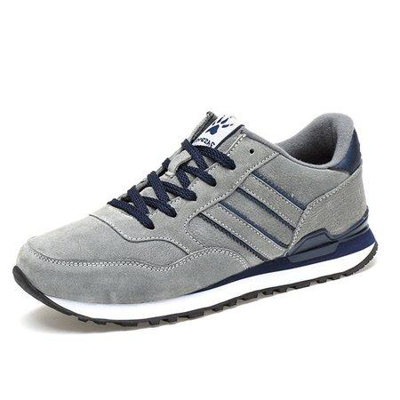Men Nubuck Slip Resistant Lace Up Trainers Sport Sneakers
