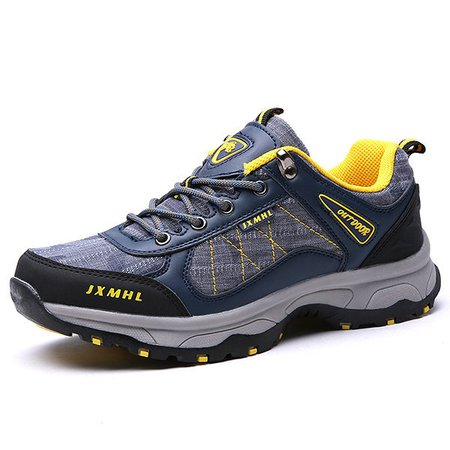 Men's Fabric Splicing Breathable Outdoor Casual Wearable Hiking Shoes