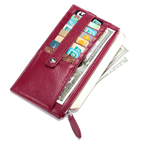 Unisex Genuine Leather Card Holder Business Wallet High End Wallet Purse