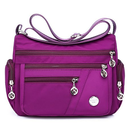Ladies Nylon Waterproof Crossbody Bags Travel Multi-Pocket Messenger Bags