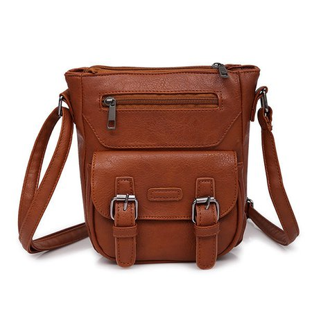 Casual  PU Leather Vintage Crossbody Bags For Women
