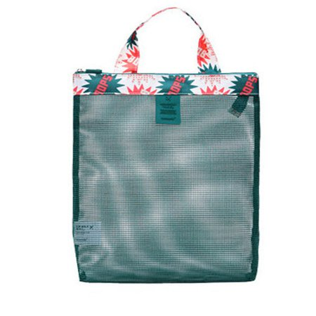 Portable Mesh Patchwork Beach Storage Bag Light Travel Wash Bags