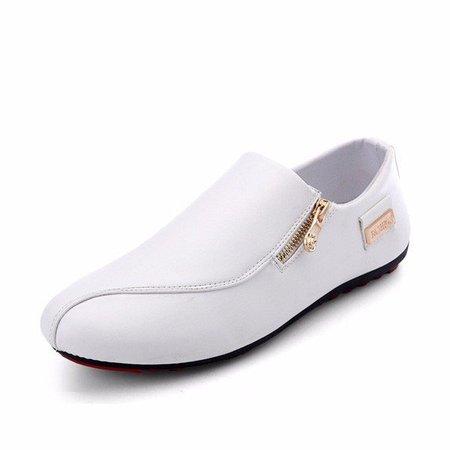 Zipper Casual Leatherette Summer Flat Heel Shoes