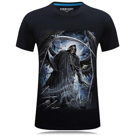 Mens Plus Size Fashion 3D Printing Short Sleeve O-neck Cotton T-shirt