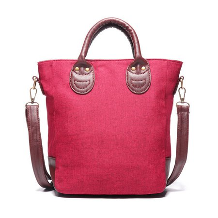 Ladies Patchwork Nylon PU Leather Handbag Crossbody Bags