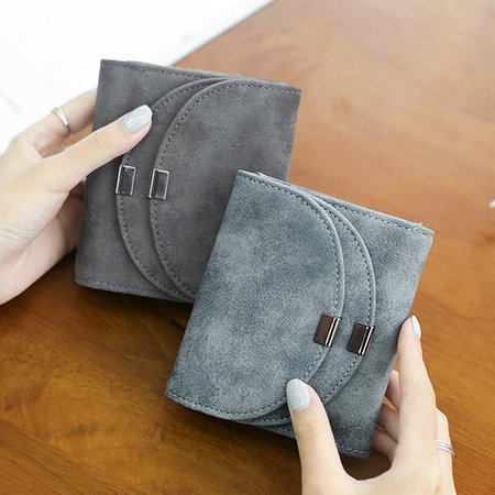 Women Stylish Pu Leather Small Wallet Card Holder Purse