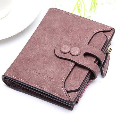 Women PU Short Wallet Fashion Designed Zipper Hasp Purse Wallet