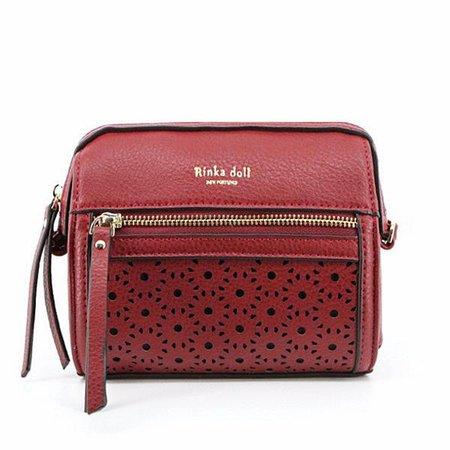 Vintage Women PU Hollowed Pattern Crossbody Bags