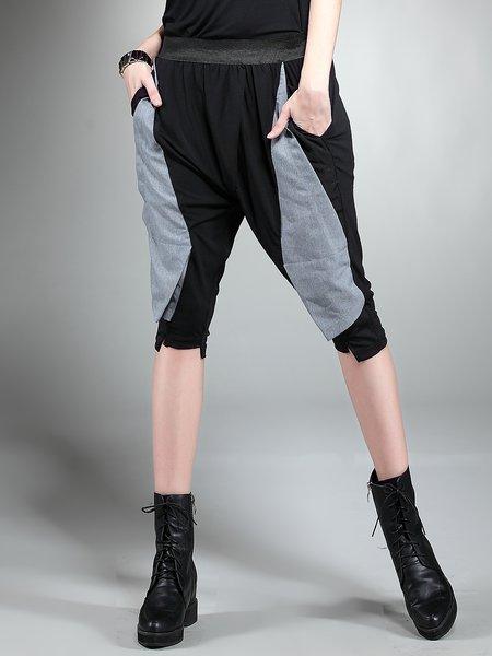 Black Sports Pockets Track Pants