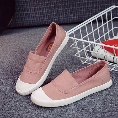 Round Toe Women's Slip-On Flat Loafers