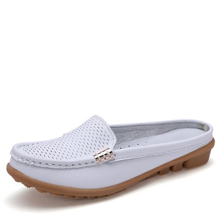 White Flat Women's Slip-On Casual Loafers