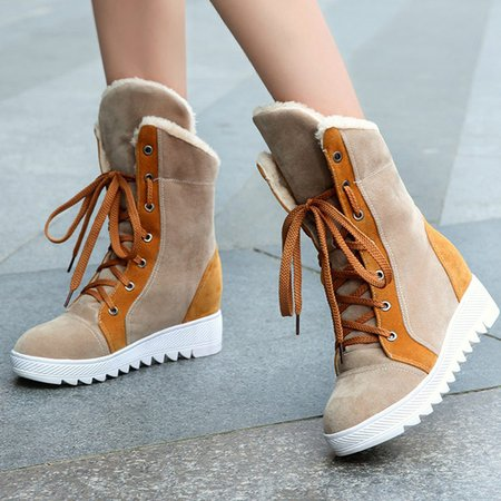 Casual Platform Lace-up Boots