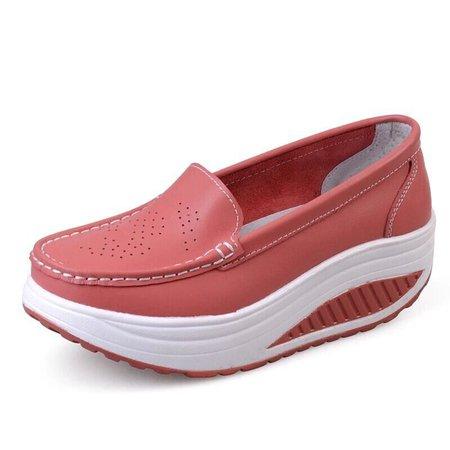 Women Outdoor PU Platform Loafers