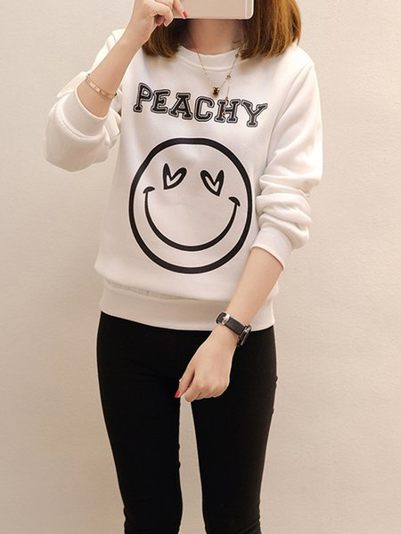 Knitted Printed Long Sleeve Sweater