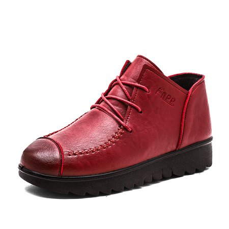 Non Slip Platform Outdoor Lace-up Winter Loafers