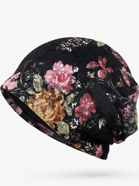 Floral Lace Jacquard Vintage Comfortable Model Hat