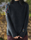Deep Gray Floral Casual Long Sleeve Sweater