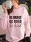 Vintage Letter Printed Plus Size Long Sleeve Casual Sweatshirts