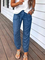 Pockets Denim Casual Pants