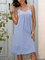Blue Paneled Casual Dresses