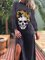 Skull Cotton-Blend Casual Dresses