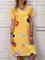 V-neck ladies dress A-Line daily casual daisy print dress