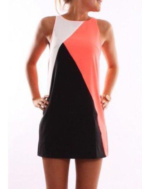 Shift Women Daily Cotton Sleeveless Paneled  Summer Dress